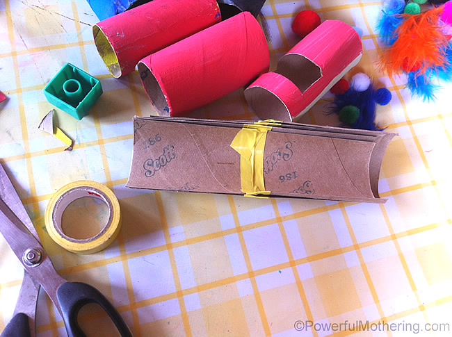 Diy marble run from toilet rolls for Diy using toilet paper rolls