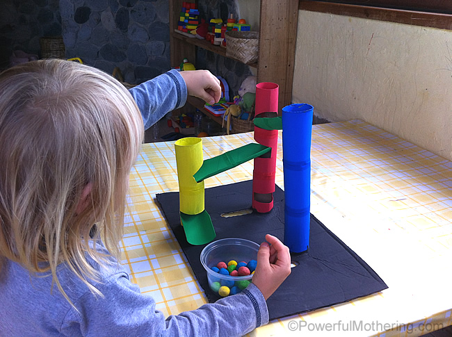 Diy Marble Run From Toilet Rolls