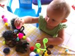 Feather and Pom Pom Trees Fine Motor Skills