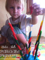 Ready for Kindergarten Book Study – Fine Motor Skills with Pasta and Play Dough