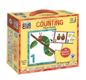 The Very Hungry Caterpillar activities Counting Floor Puzzle