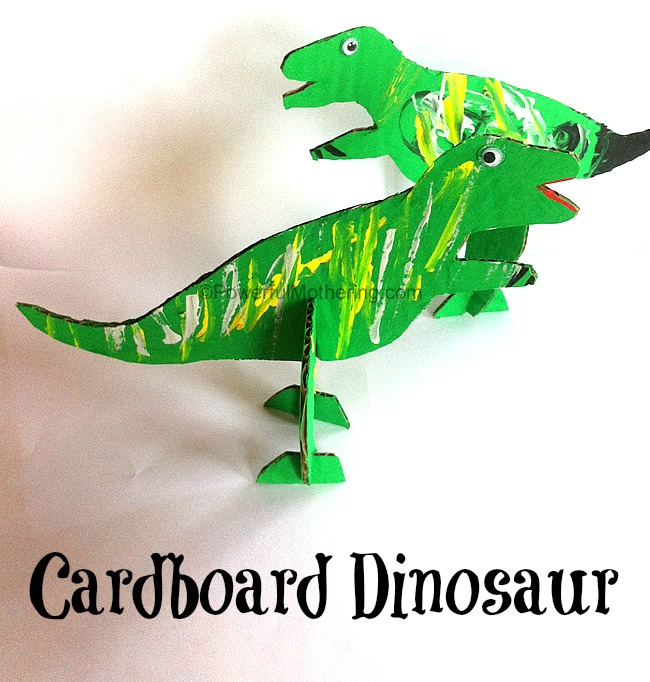 Powerful Mothering | Cardboard Dinosaur