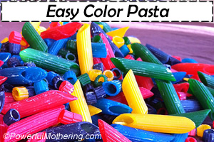 easy color pasta