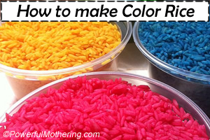 how to make color rice