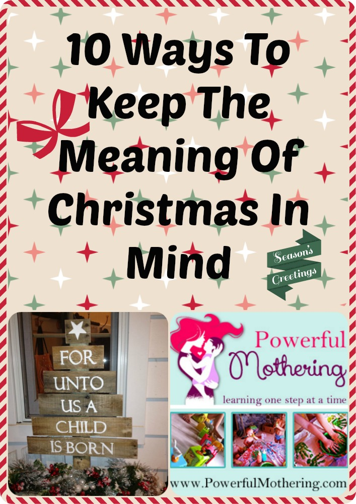 Meaning Of Christmas In Mind