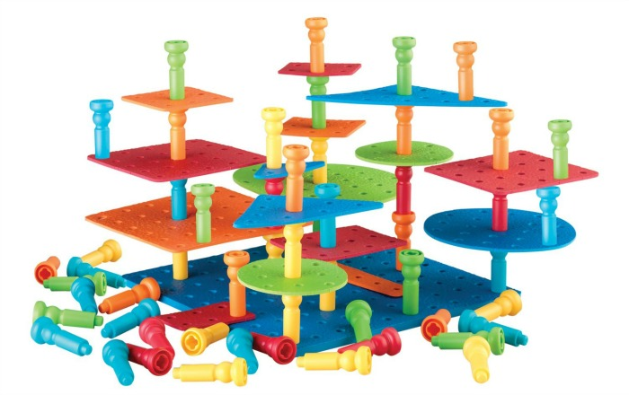 Building Toys For Toddlers And Preschoolers Stacking Pegs