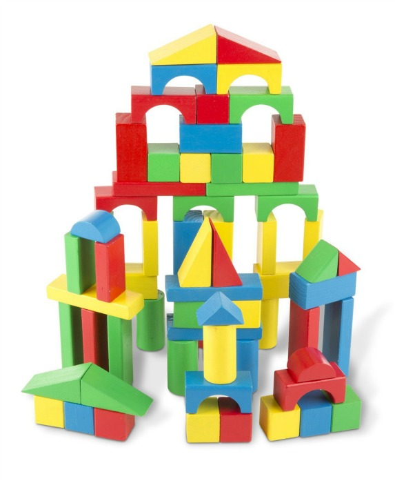 Building Toys For Toddlers Colorful Wooden Blocks