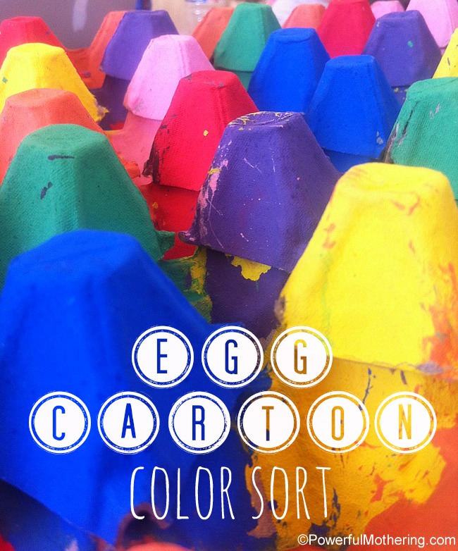 Egg Carton Color Sort