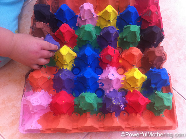 Egg Carton Crafts a Color Sort Activity 1 year old