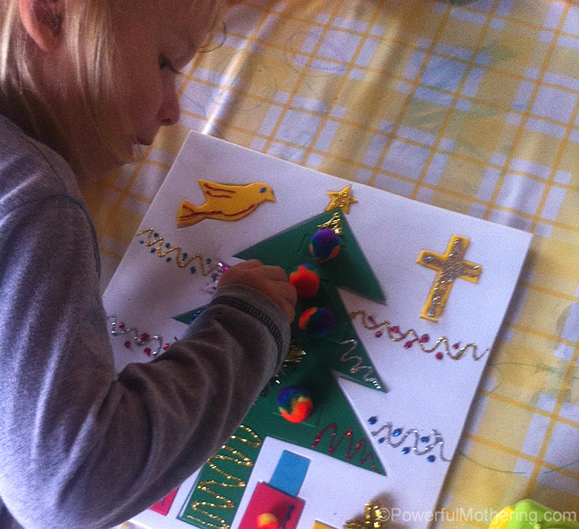 Having fun with the christmas puzzle