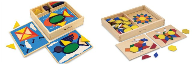 Shape and color puzzles