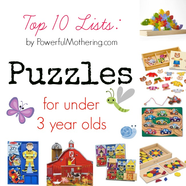 Top 10 Lists Puzzles for under 3 year olds
