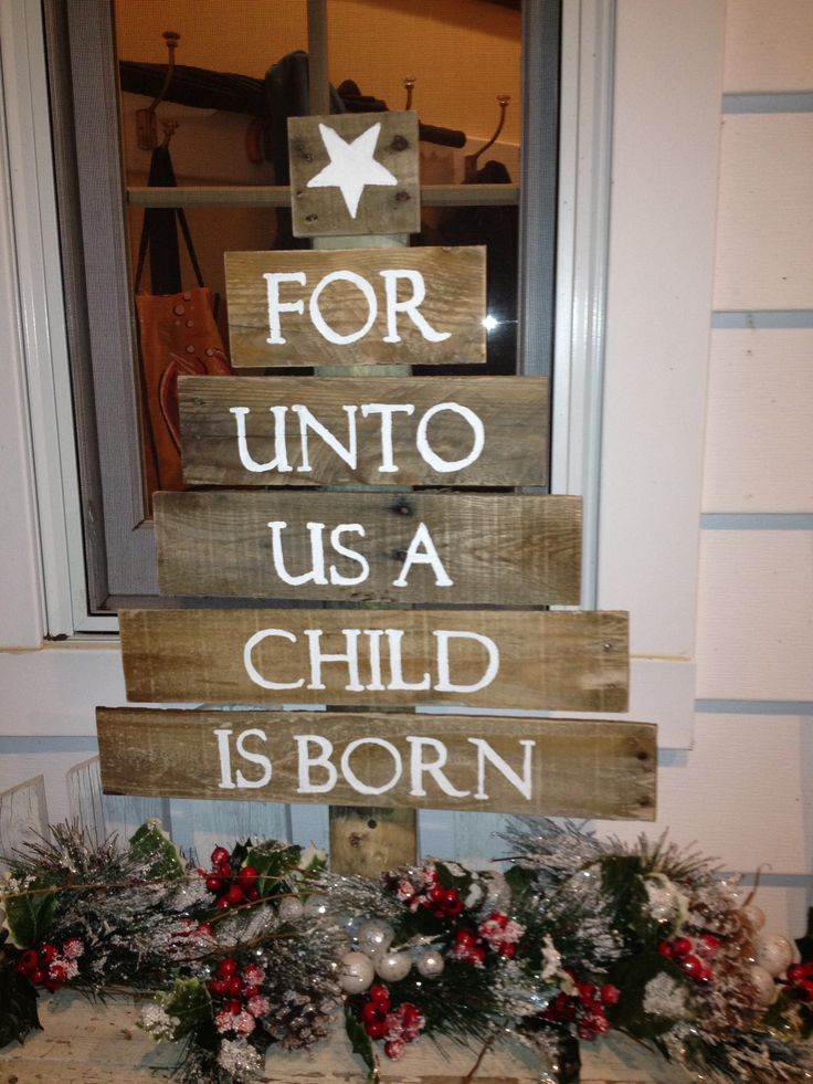 I like this one a lot; a beautiful reminder of the real reason for Christmas celebrations, for each time you enter or exit your home.