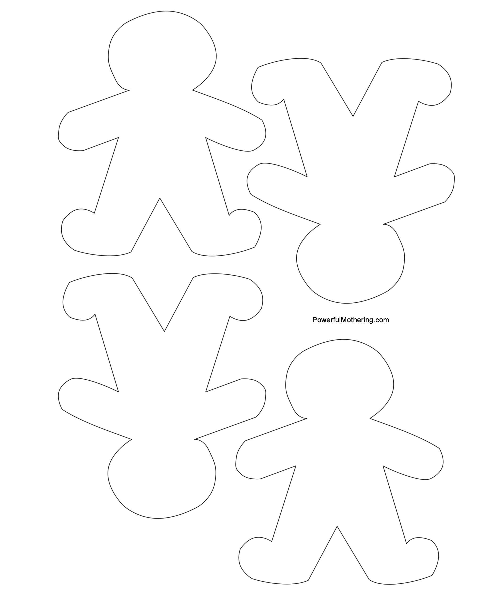image about Free Printable Christmas Cutouts known as Gingerbread Guys, Xmas Tree and Star Printables