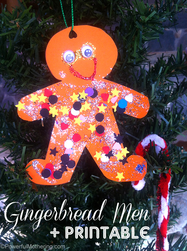 gingerbreadmen printable