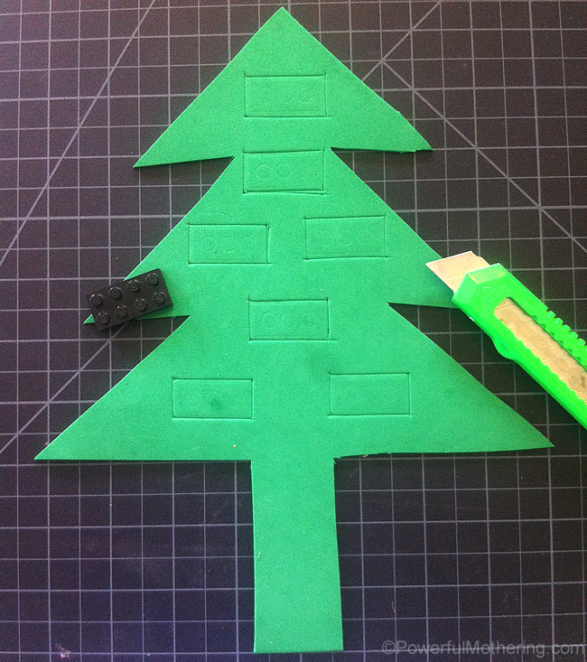 making identical sections xmas tree