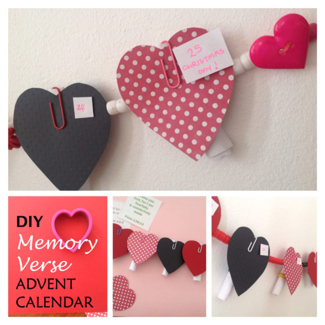 DIY Memory Verse Advent Calendar
