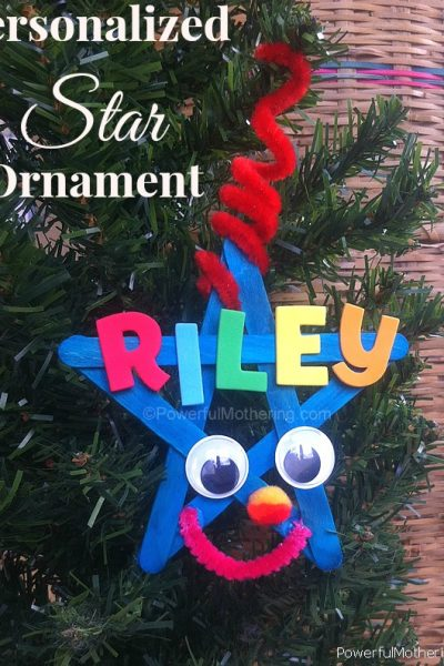 Personalized Kids Star Ornament