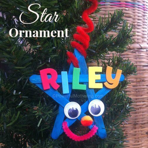 Personalized Kids Star Ornament