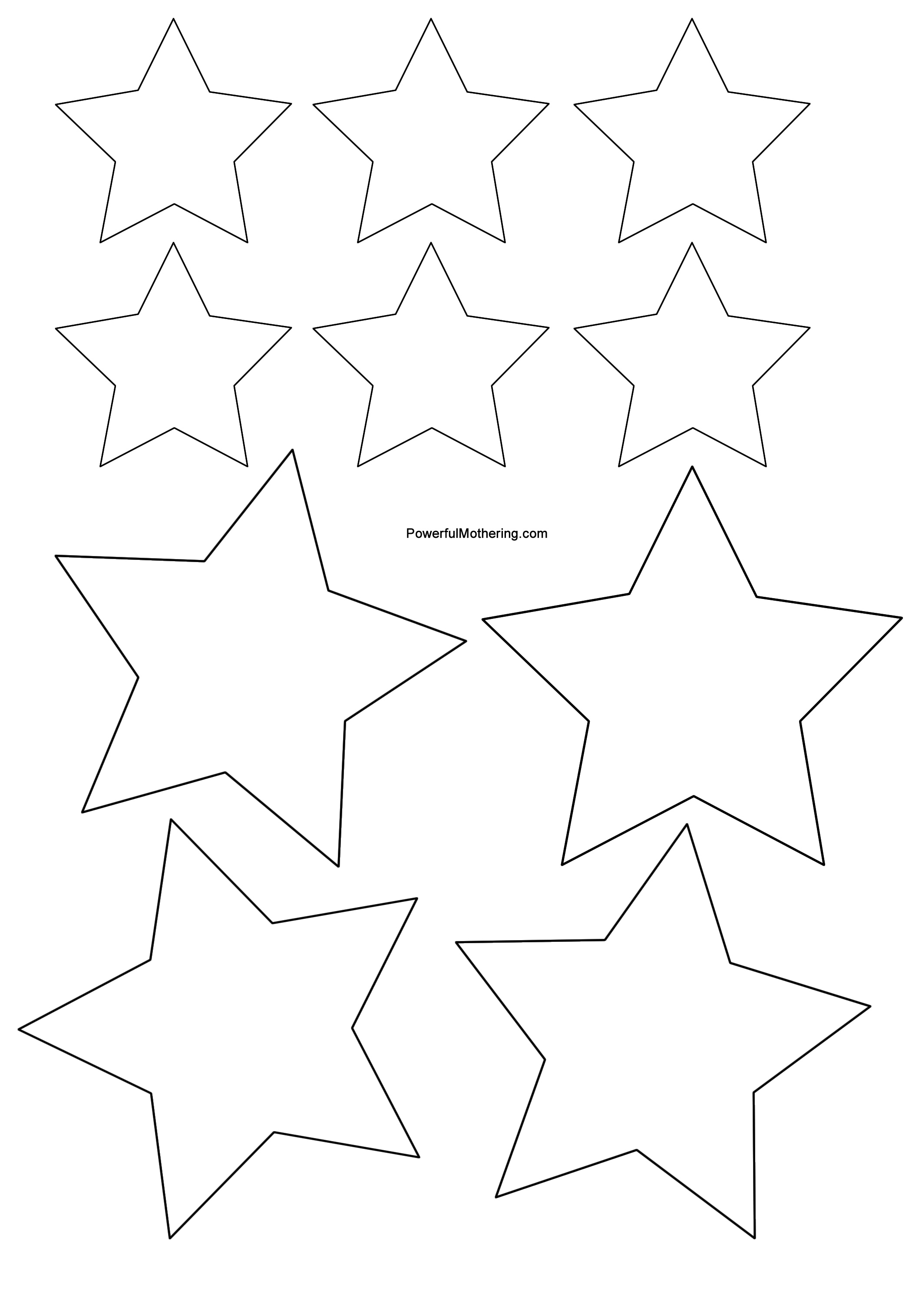 Universal image regarding christmas star printable