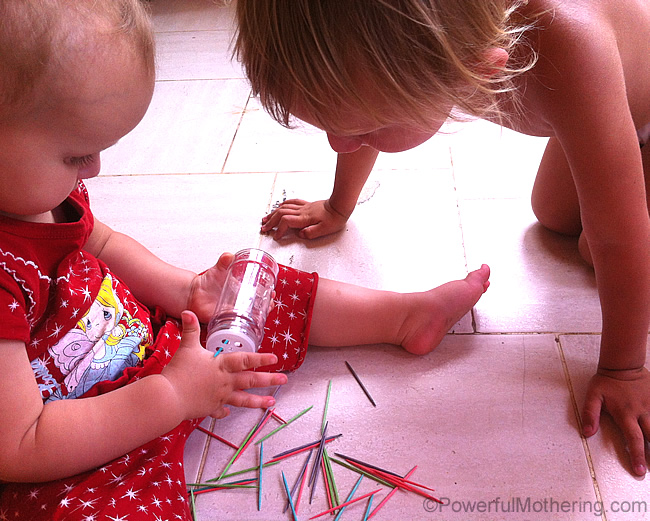 toddler with fine motor skills