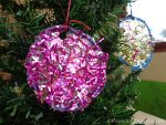 Kid Made: Sparkly Tinsel Christmas Ornaments