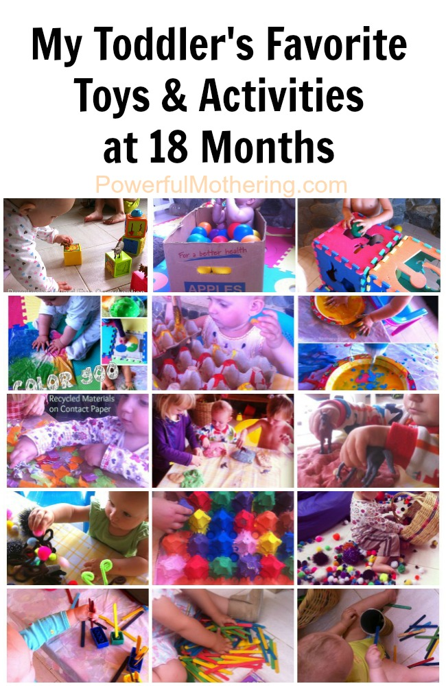 My Toddler's Favorite Toys & Activities at 18 Months