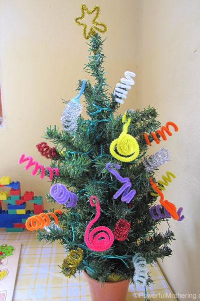 Pipe cleaner practice tree