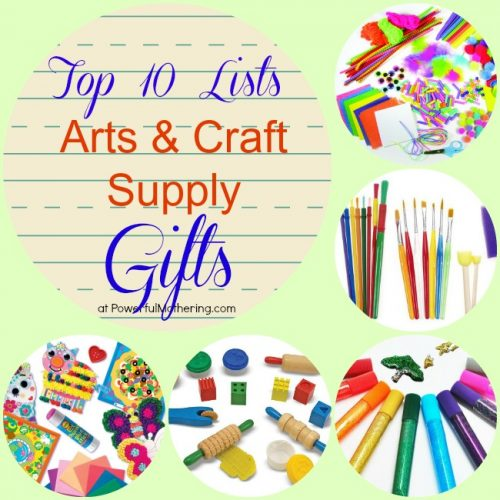 Top 10 Lists: Arts & Craft Supply Gifts