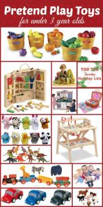 Top 10 Lists: Pretend Play Toys for under 3 year olds