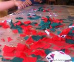 Christmas Theme Activity with Sticky Contact Paper