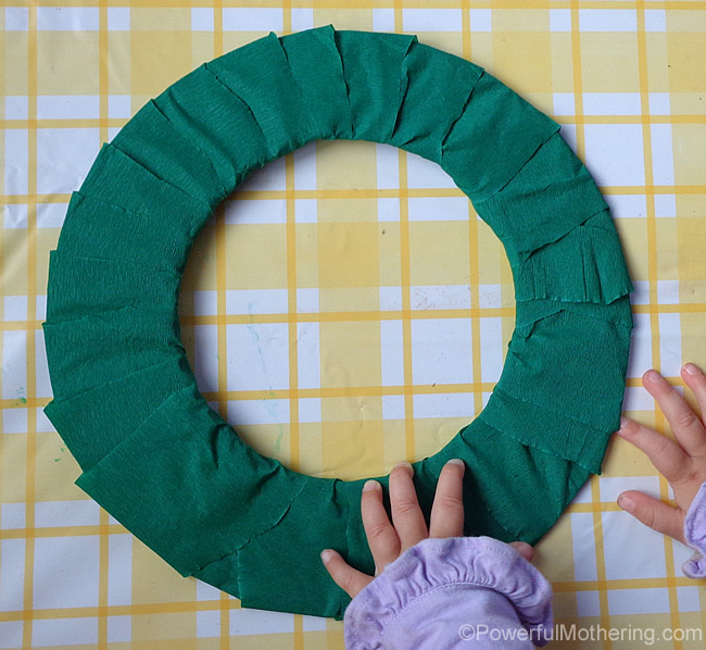 covered wreath
