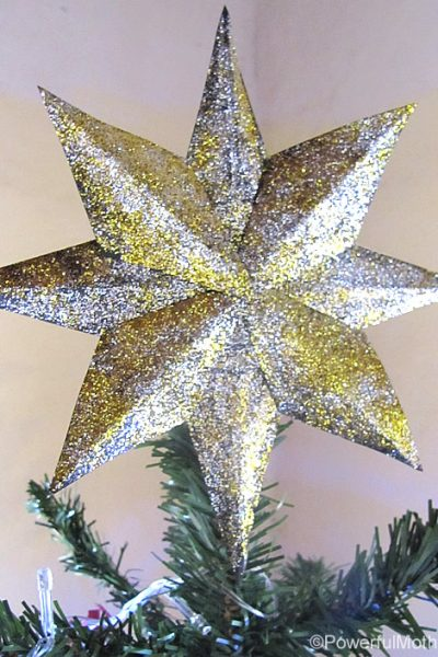 diy tree topper glitter star