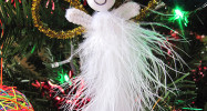 Kid Made: Feather & Pipe Cleaner Angels – Easy Christmas Ornaments