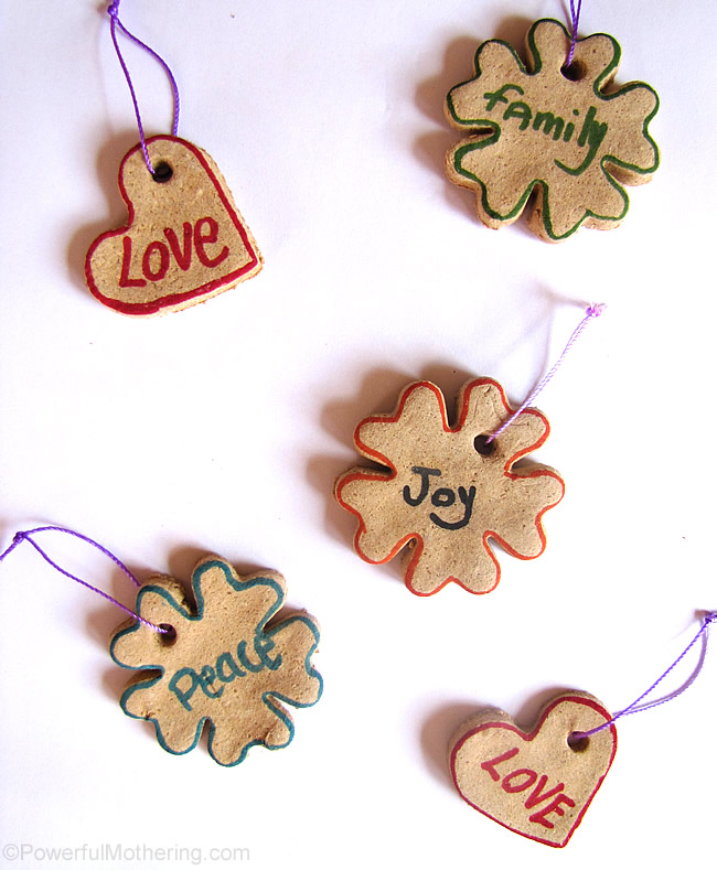 salt dough name ornaments