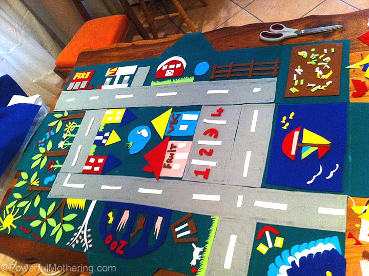 DIY felt playmat toddler