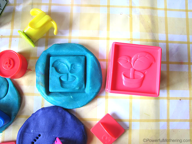 Expand Playdough play with other Toys imprints