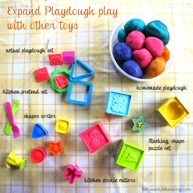 Expand Playdough play with other Toys