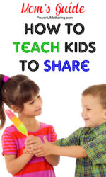 How to Teach Kids to Share plus Sharing Activities