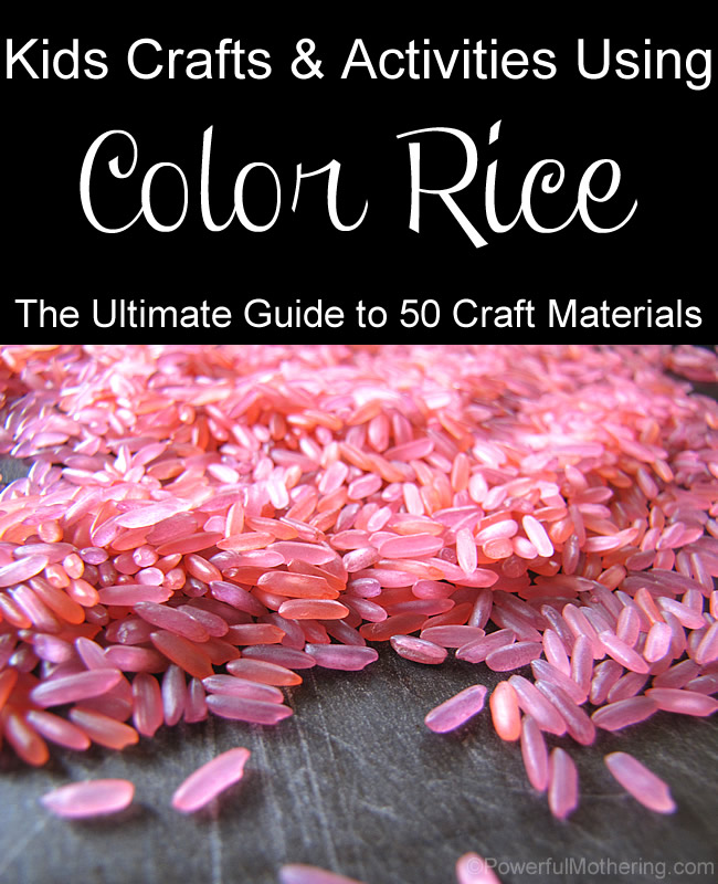 Kids crafts and activities with color rice ultimate guide