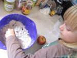 Baking and Kids helping in the Kitchen