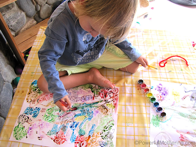 Not only does this Crayon Resist Art have beautiful results, but it is also a fantastic activity to strengthen skills such as STEAM, fine motor and prewriting.