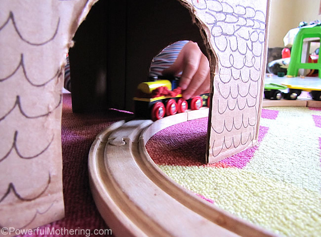 Cardboard Box Tunnel