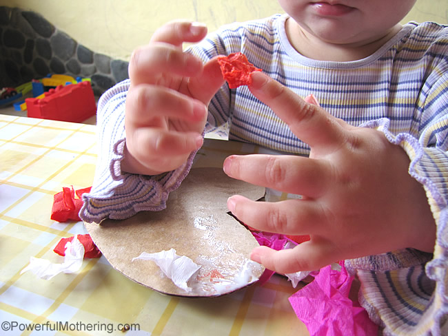fine motor skills practice and stuck on fingers