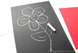 flower chalk drawings