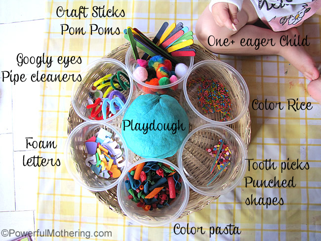 Homemade playdough recipe and play