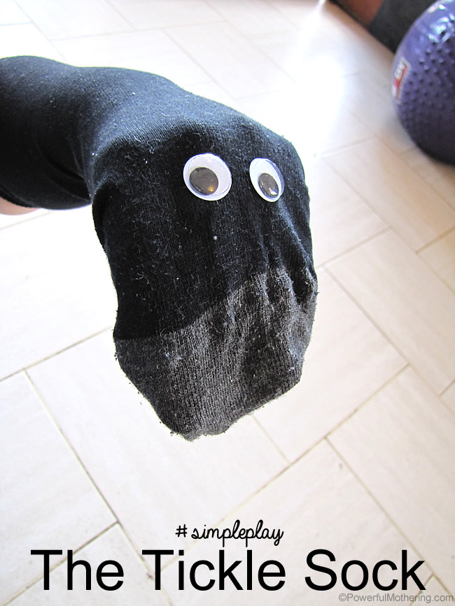 simple play tickle sock puppet