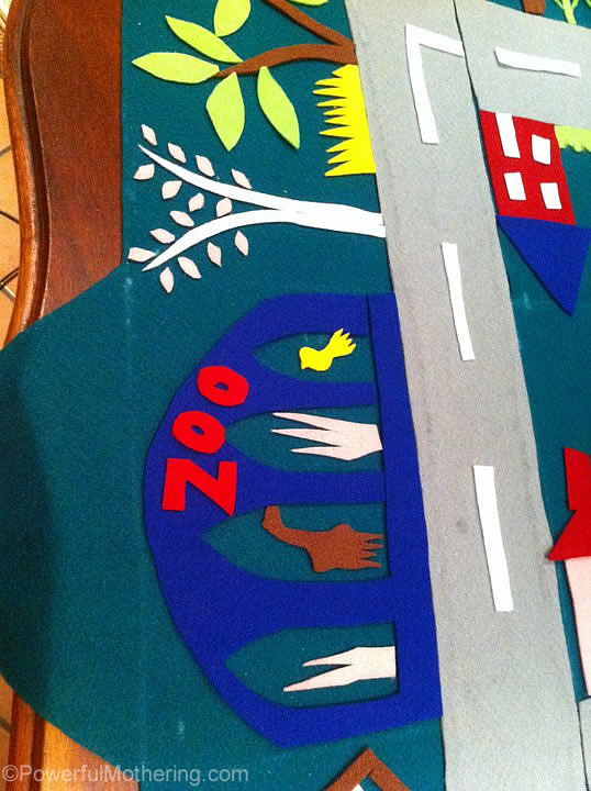 the zoo at the felt play mat