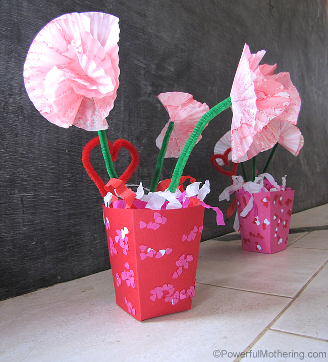 valentines day flower gift craft