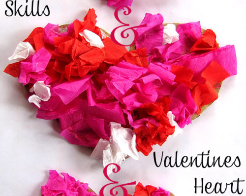 Valentines Heart Mobile with Fine Motor Practice